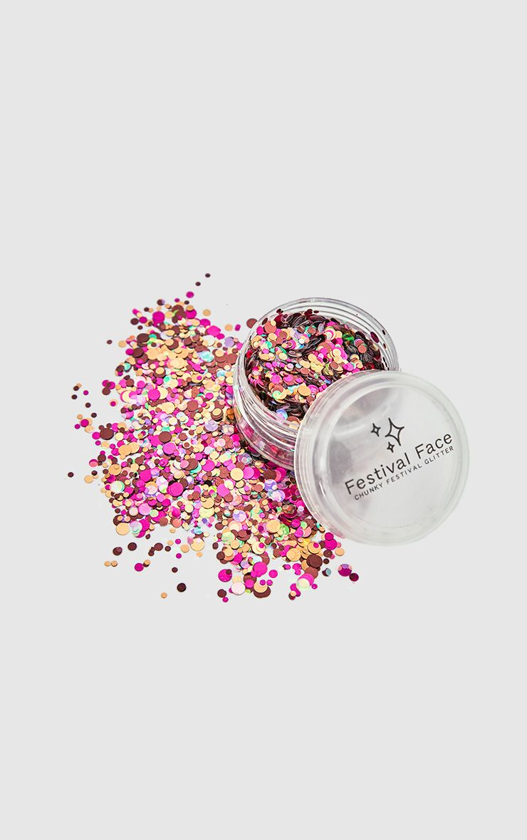 Festival Face Pink Minx Glitter Pot