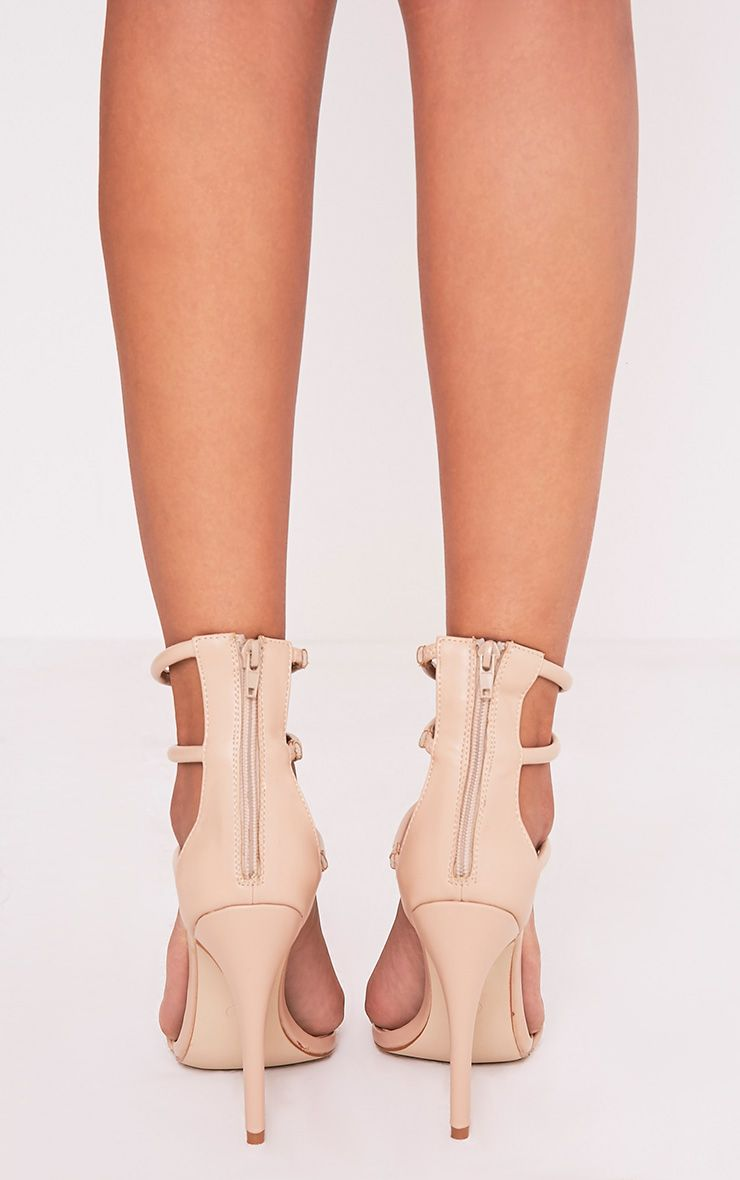 Nadine Nude Strappy Heeled Sandals 4