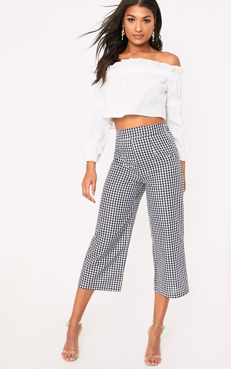 Tazmin Black Gingham Culottes
