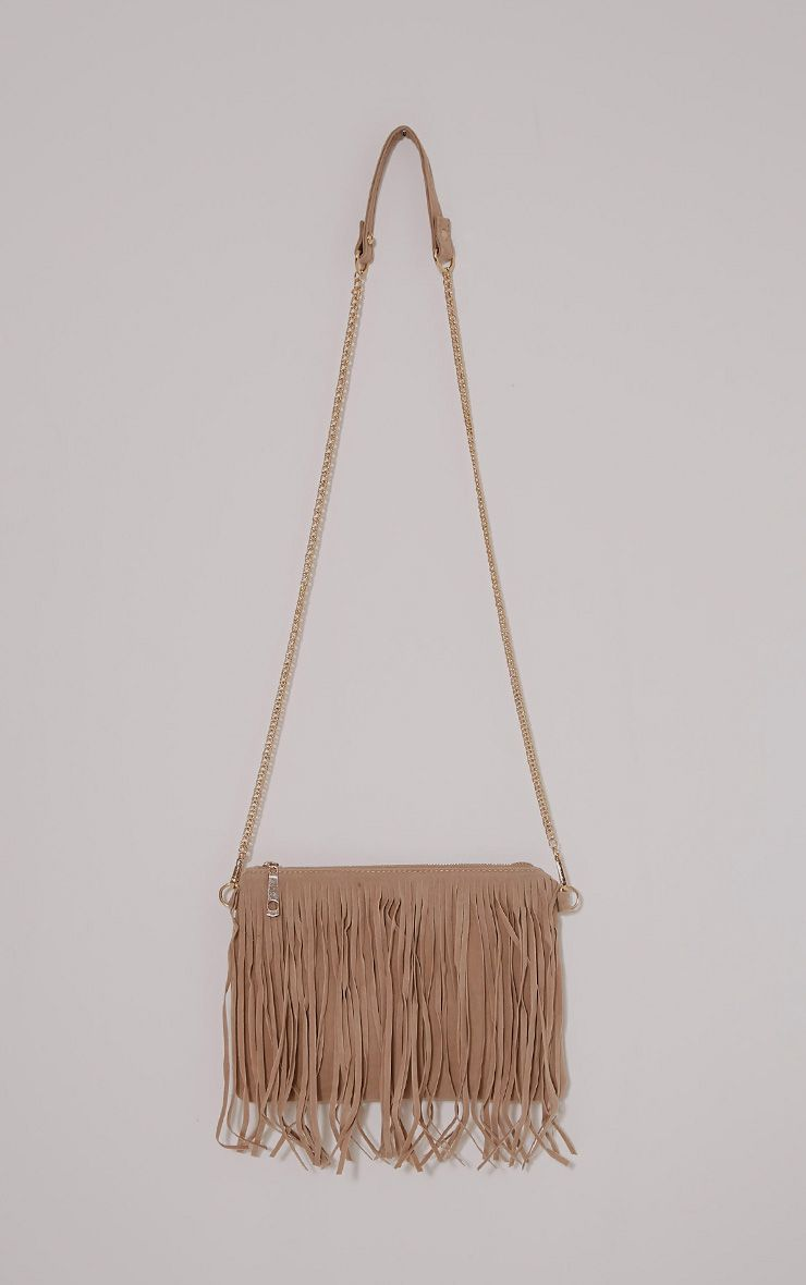 Dany Cream Fringe Bag 1