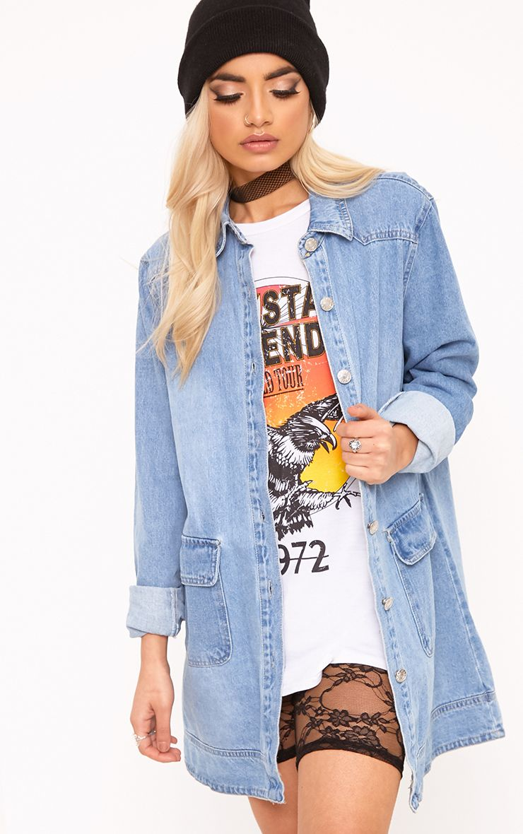 Light Wash Denim Shacket