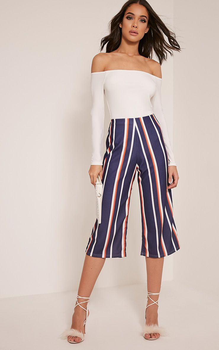 Josalee Navy Stripe Culottes 1