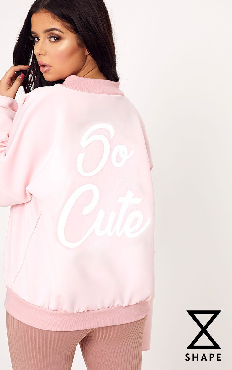 Shape Pink So Cute Bomber Jacket
