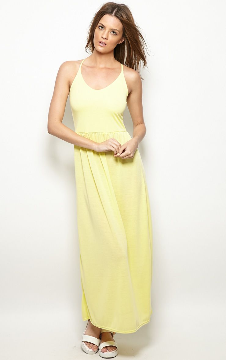 Mabel Lemon Strap Detail Maxi Dress 1