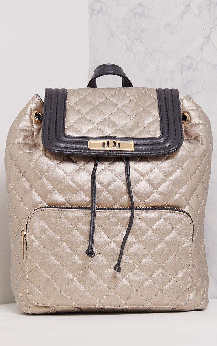 Peppa Silver Quilted Backpack