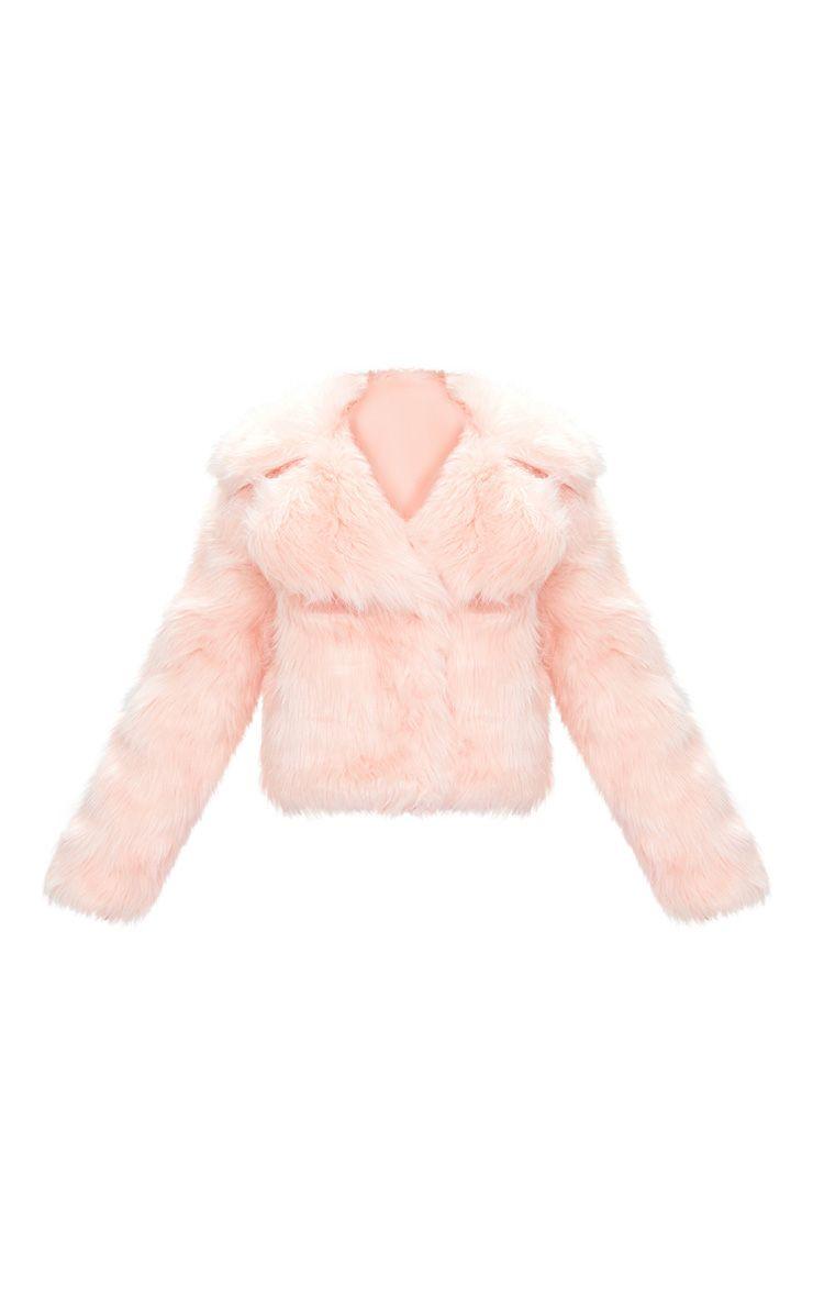 Sophiah Premium veste en fausse fourrure rose pâle 4