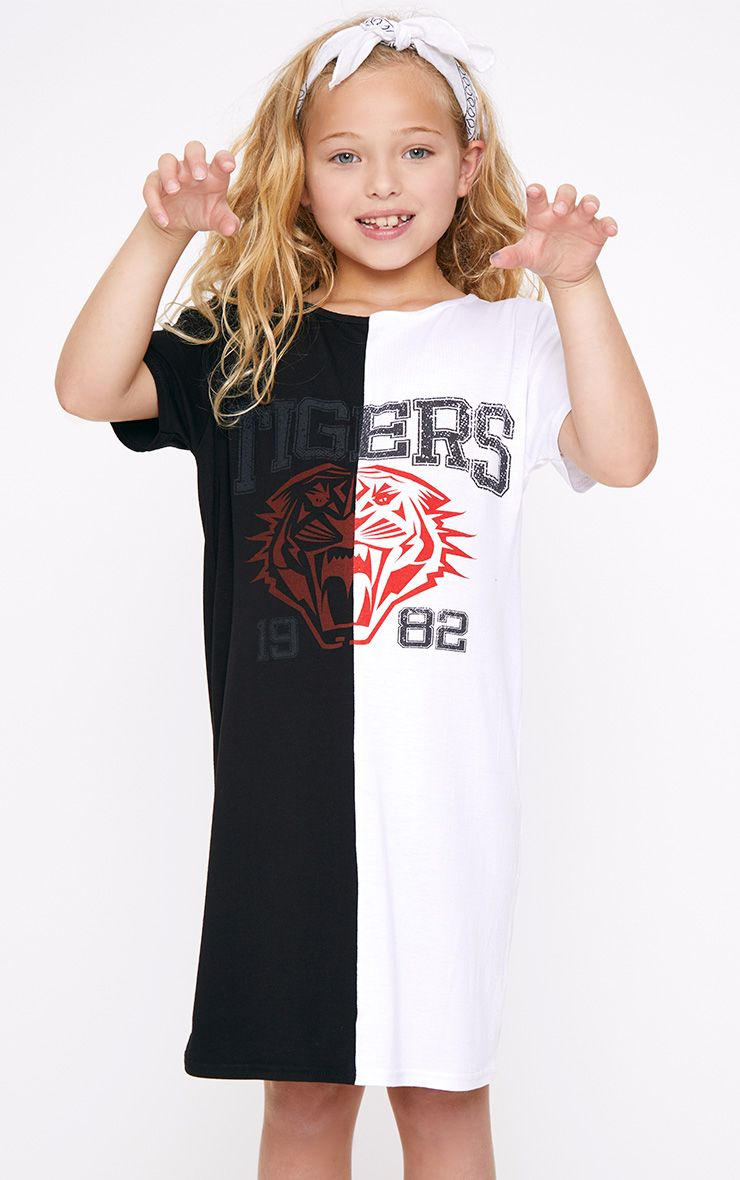 Tigers Two Tone Black T Shirt Dress