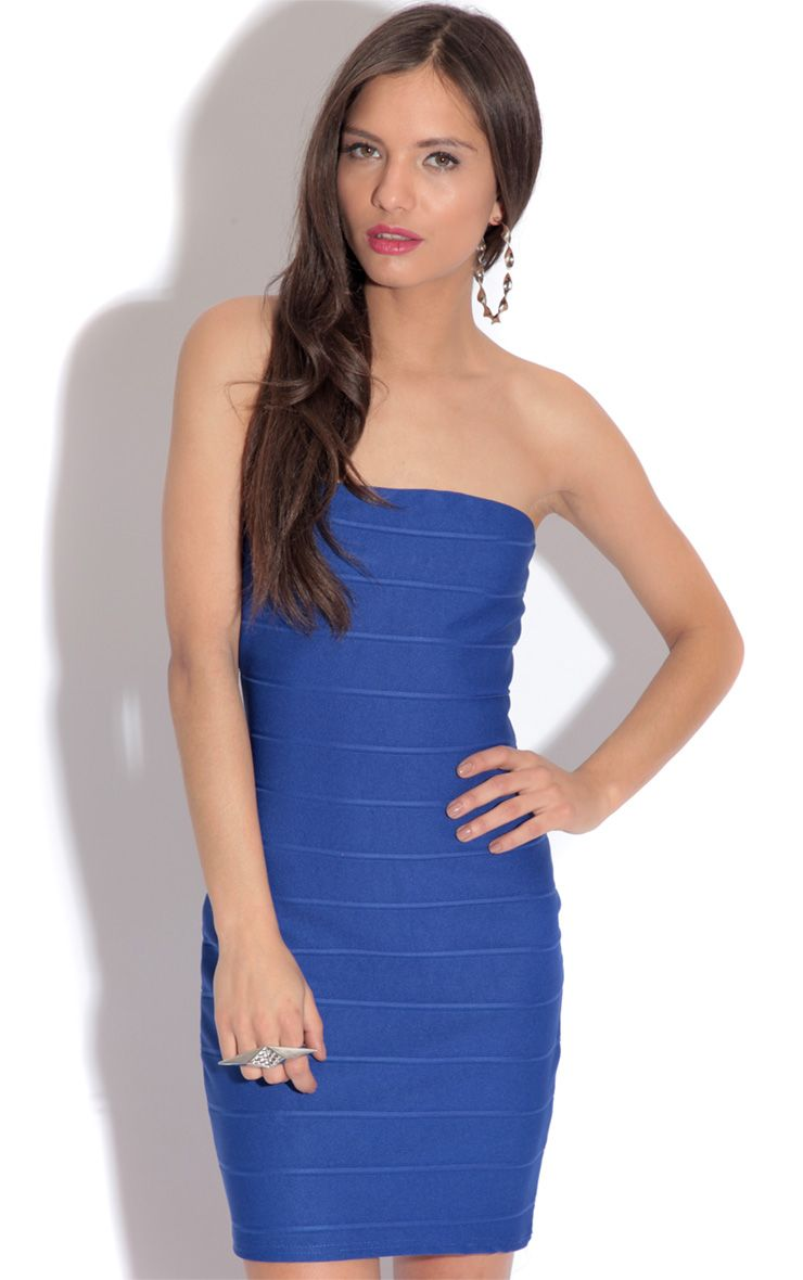 Abbi Blue Bodycon Dress 1
