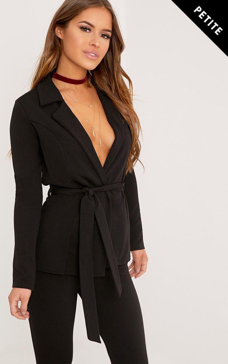 Petite Erma blazer noir à ceinture