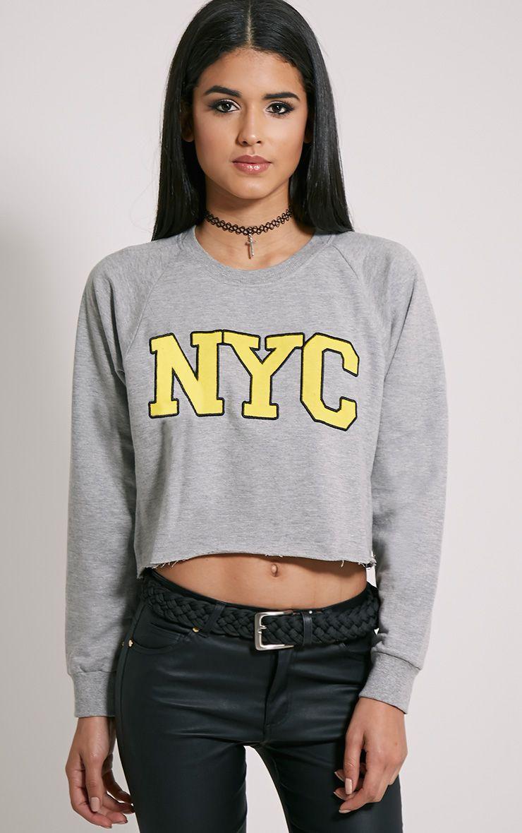 Kaira Grey NYC Crop Sweater 1