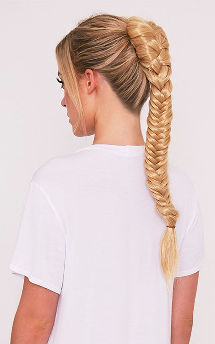 Golden Blonde Fishtail Plait Extension 1