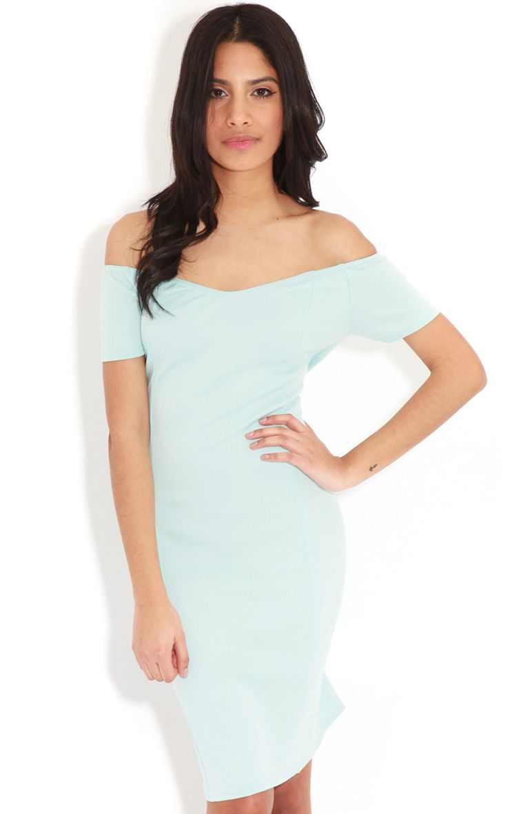 Sadia Baby Blue The Shoulder Dress 1