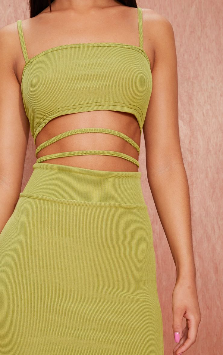 Topshop mauve ribbed strappy cut out detail bodycon dress manhattan