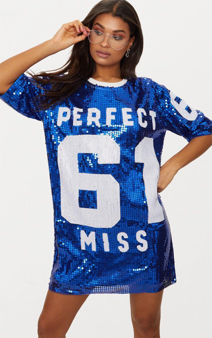 Cobalt Perfect Miss 61 Sequin T Shirt Dress