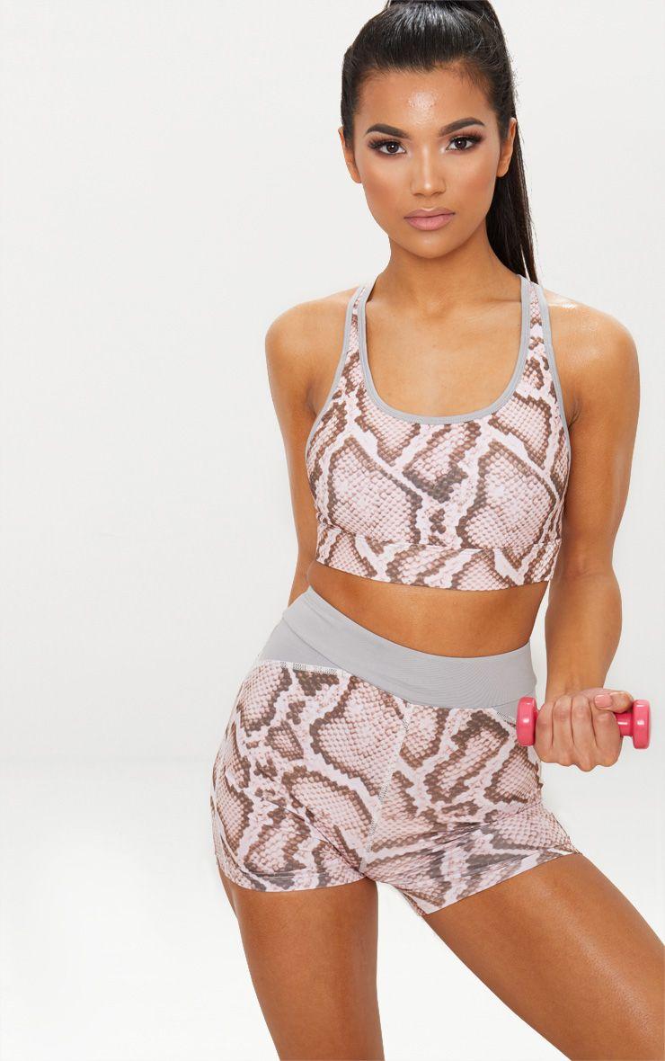 Pink Snake Binding Crop Top