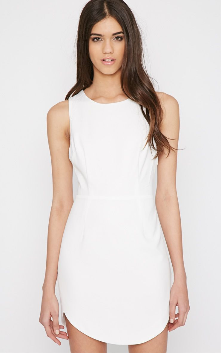 Bryony White Cut Out Mini Dress  1