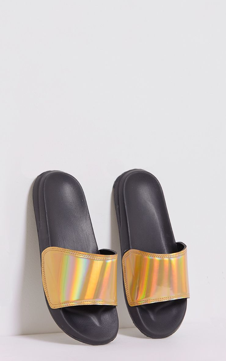 Selena Gold Iridescent Sliders