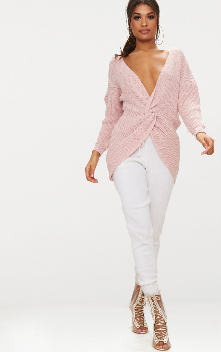 Pink Twist Front Jumper