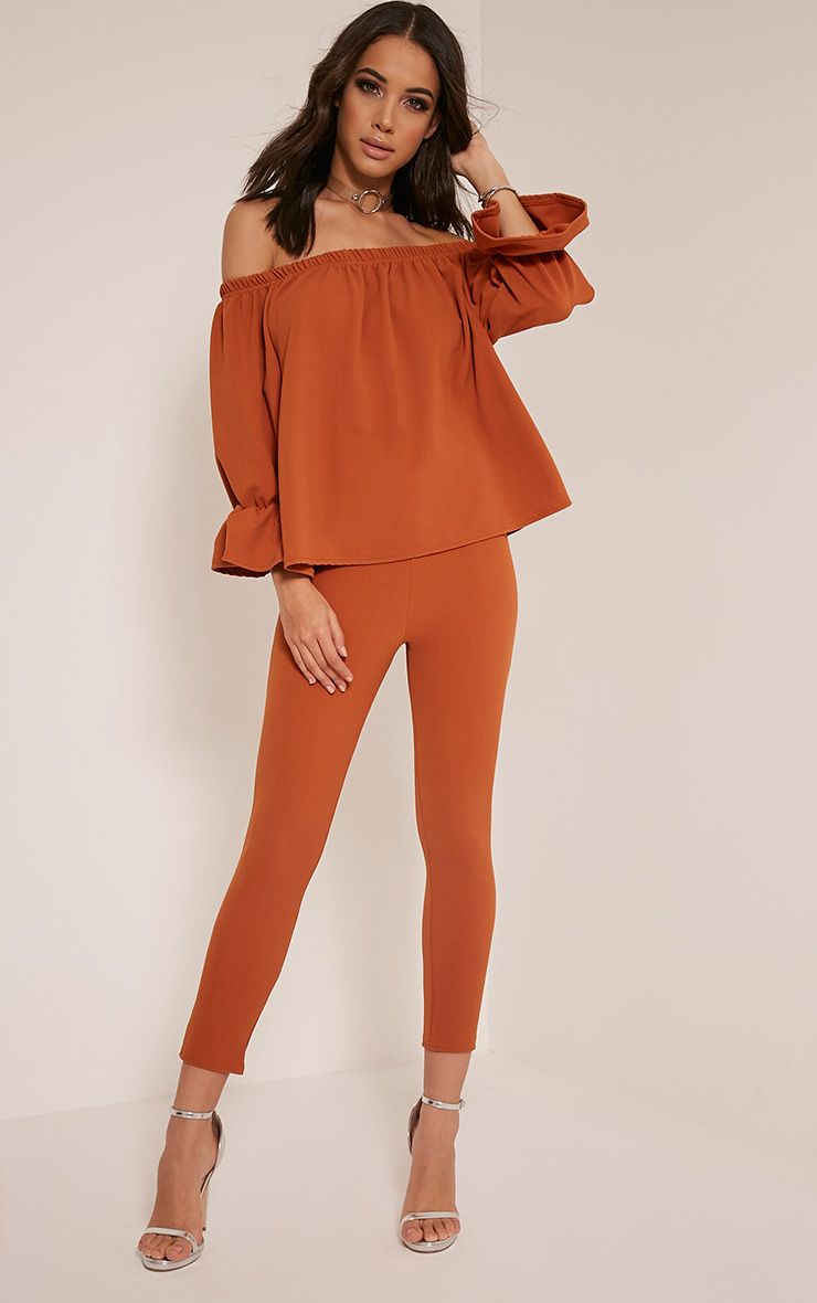 Evalyn Tobacco Cropped Trousers 1