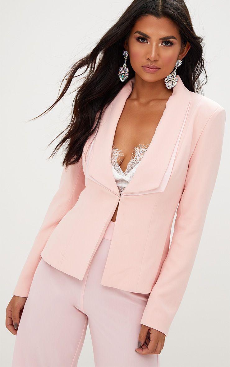 Pink Double Lapel Blazer