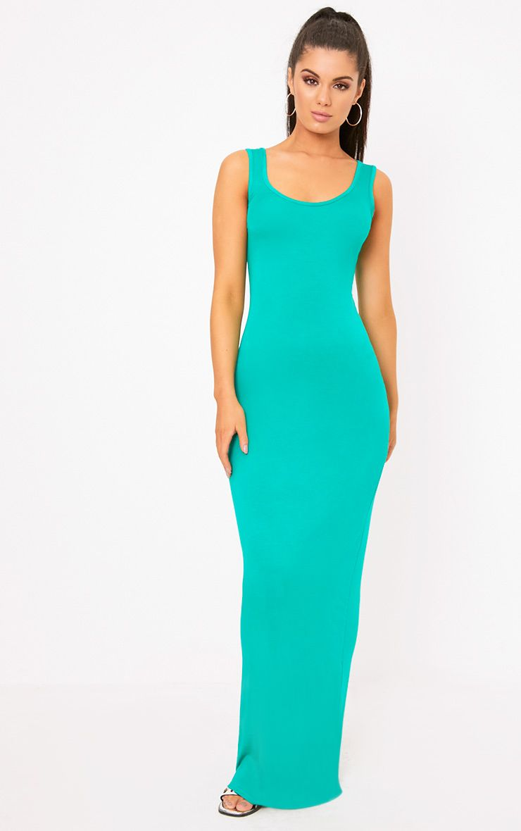 Jade Green Racer Maxi Dress
