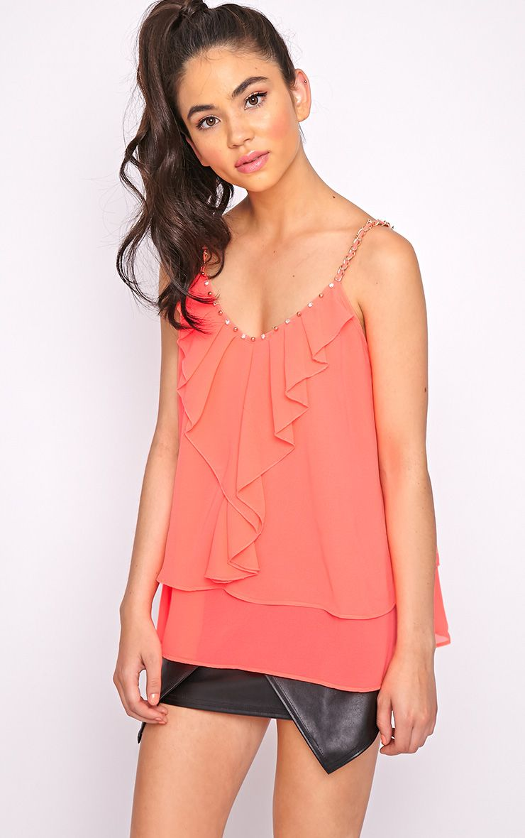 Jessy Coral Chain Swing Vest 1