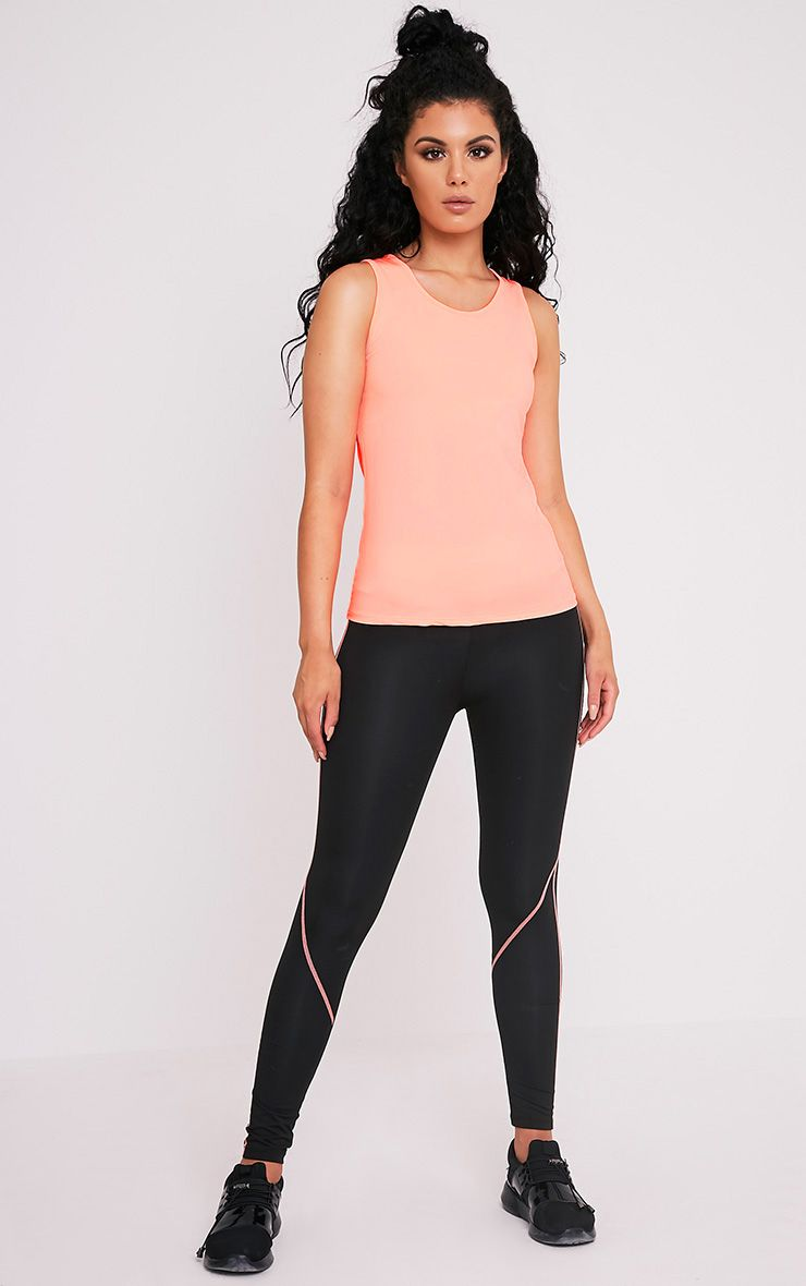 Avia Peach Racer Neck Gym Vest 5
