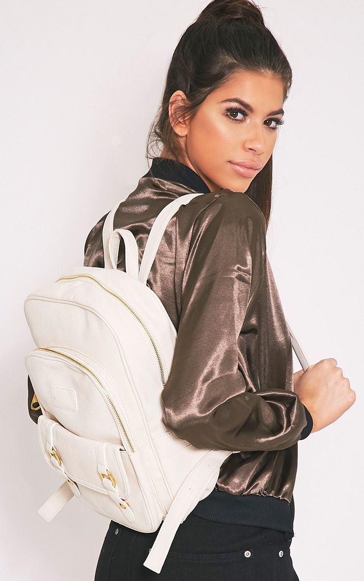 Yamkah Cream PU Backpack 1
