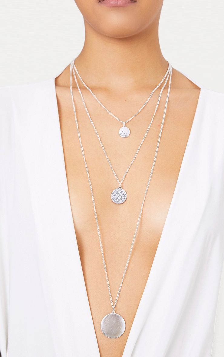 Nula Silver Layered Coin Necklace