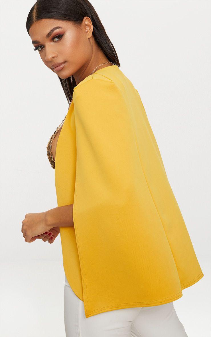 Blazer cape jaune moutarde manteaux et vestes - Blazer jaune moutarde ...
