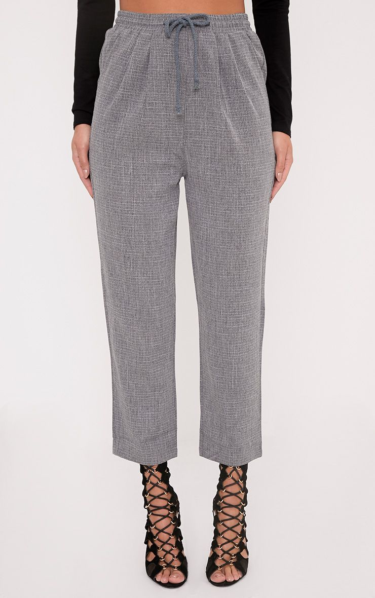 DIYA GREY CASUAL TROUSERS