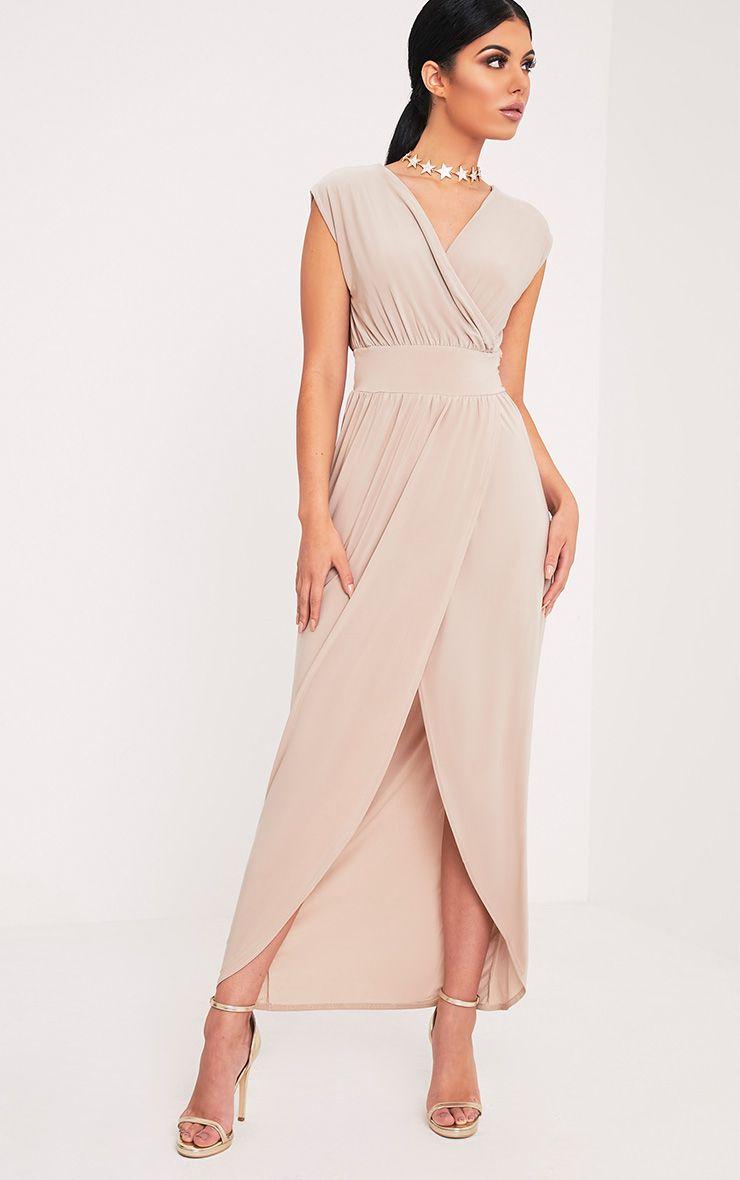 Marlisa Stone Slinky Plunge Maxi Dress