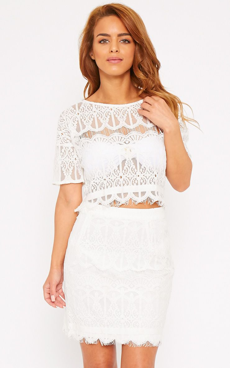Linnea Cream Lace Skirt 1
