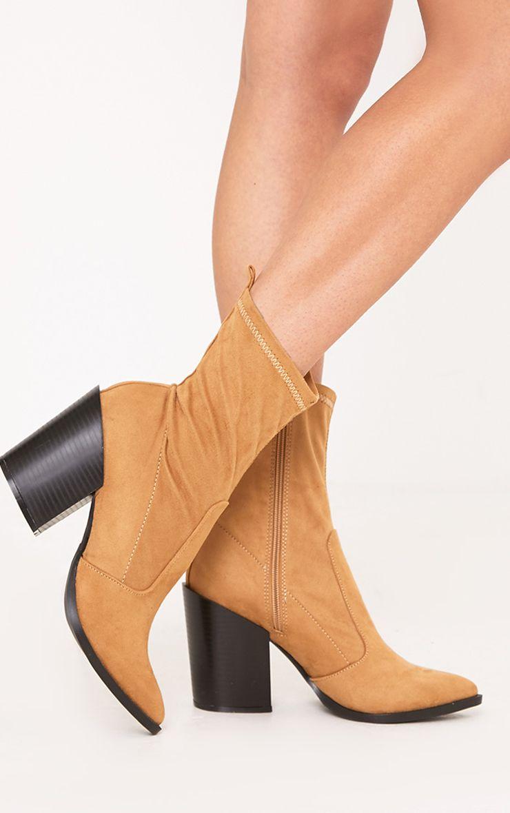 Danica Stone Western Sock Boots