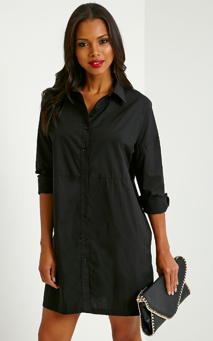 Carson Black Shirt Dress 1