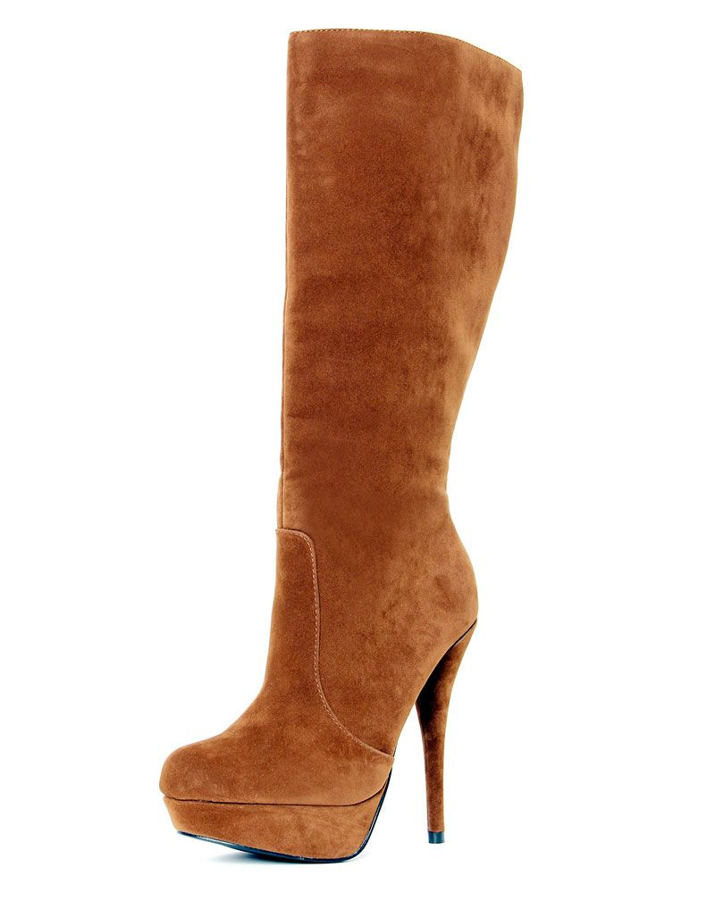 Faith Brown Knee High Boots-6 1