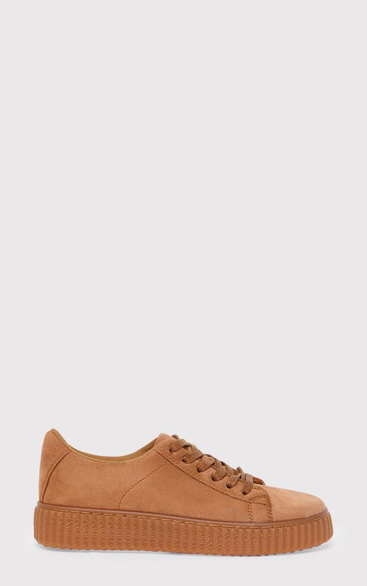 Kailey Camel Faux Suede Creepers