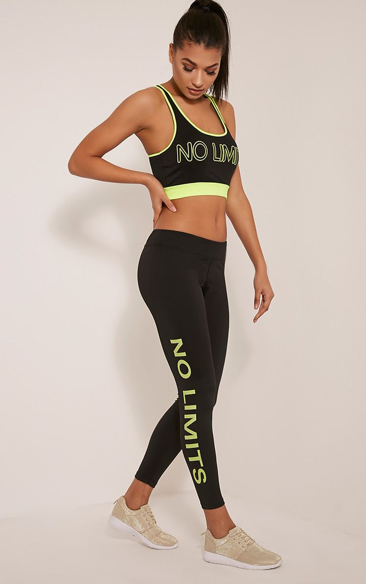 Jaya Yellow 'No Limits' Gym Leggings 1
