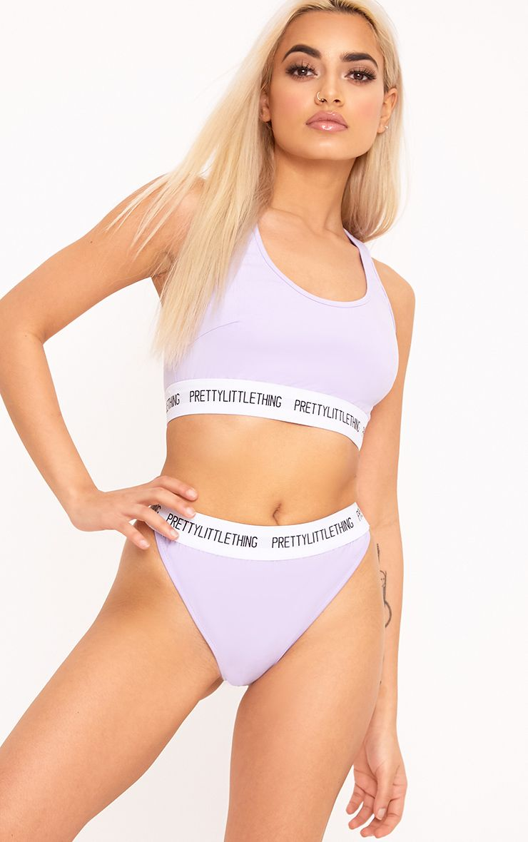PrettyLittleThing Lilac Sports Bra