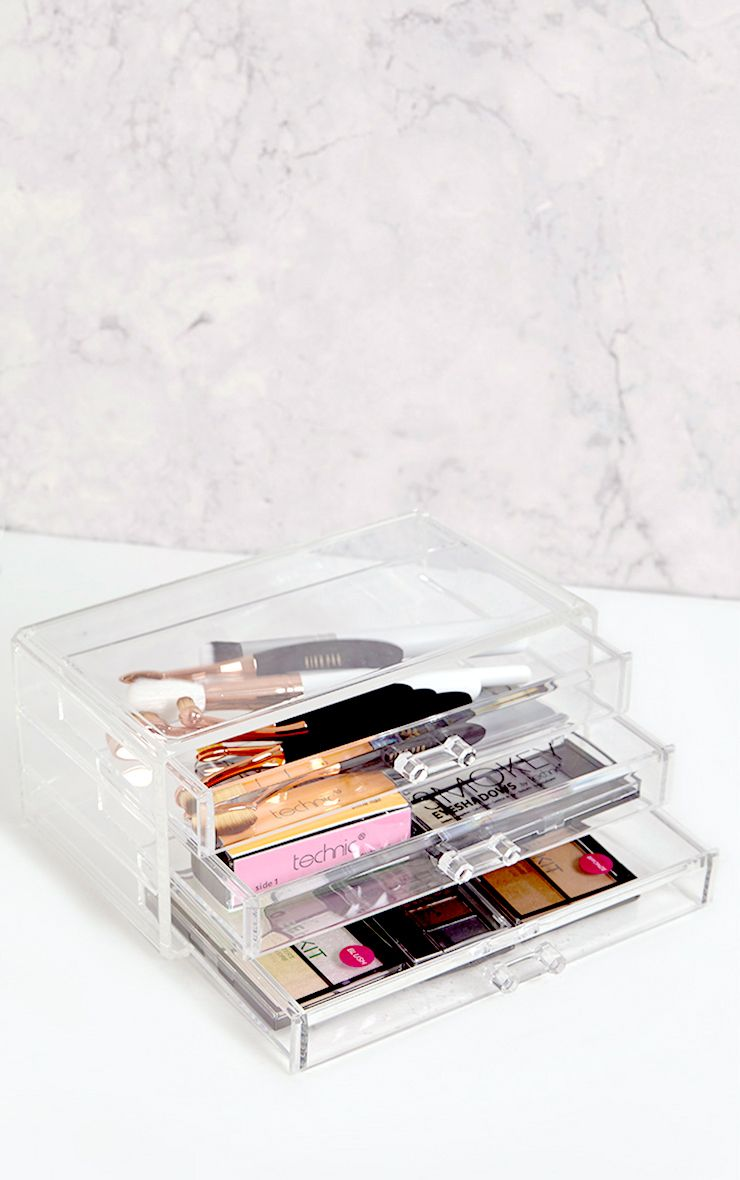 Technic Clear Three Drawer Cosmetics Organiser