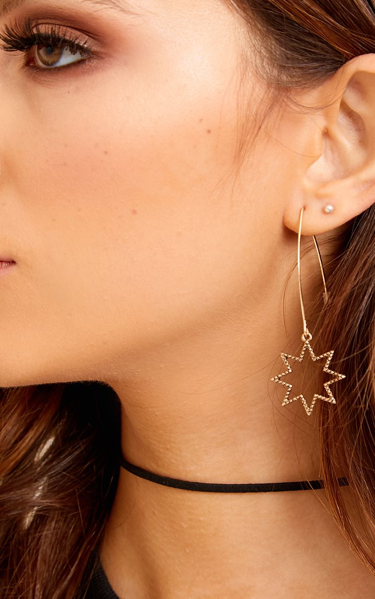 Conssa Moon and Star Mixed Earrings