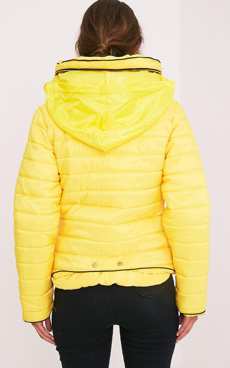 Mara blouson jaune rembourré 2