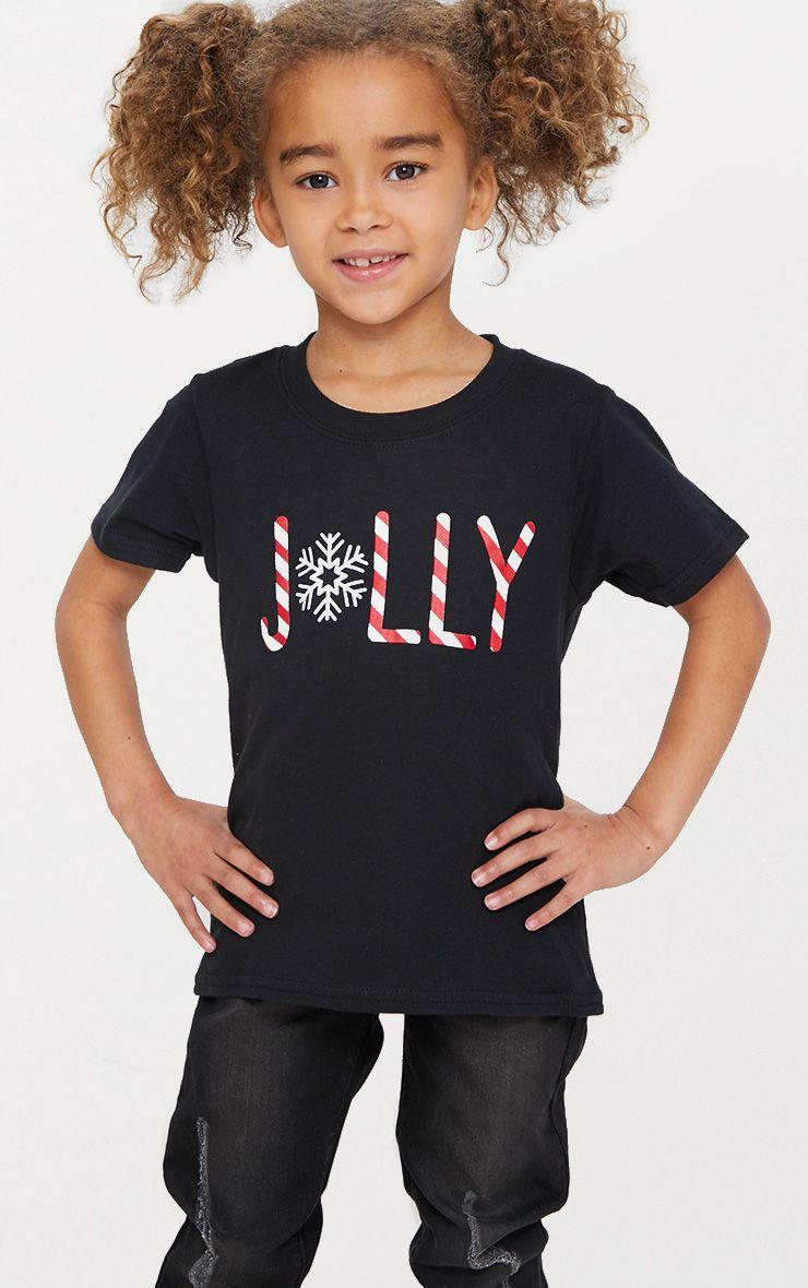 Jolly Black Christmas T Shirt