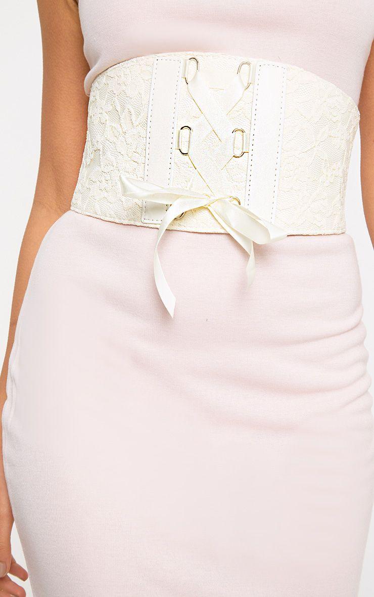 Cream Lace Corset Belt