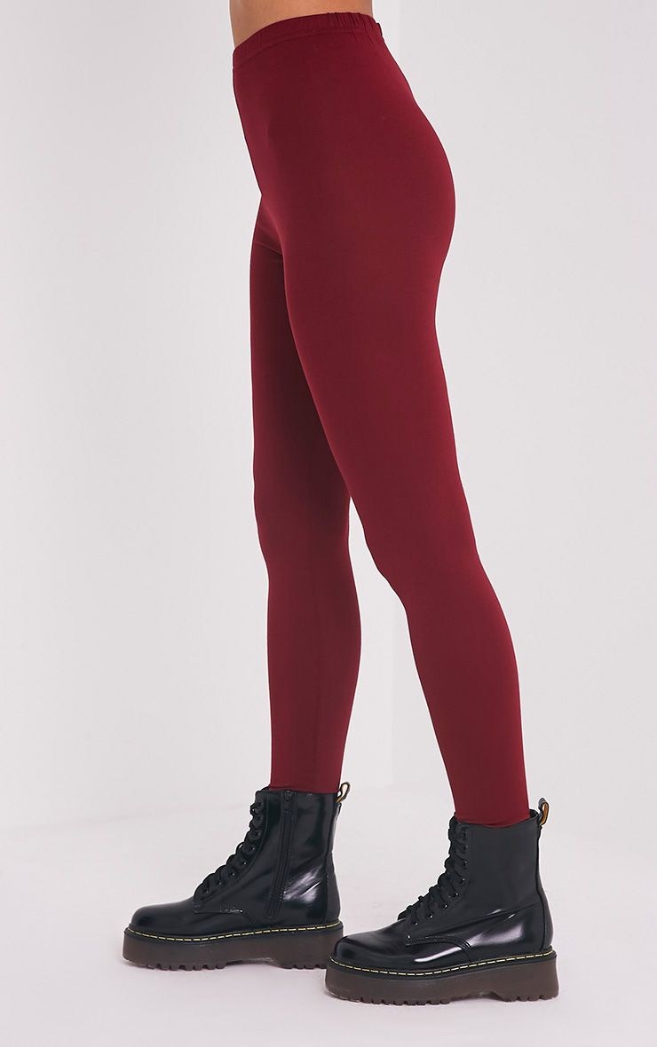 Basic legging en jersey bordeaux 4