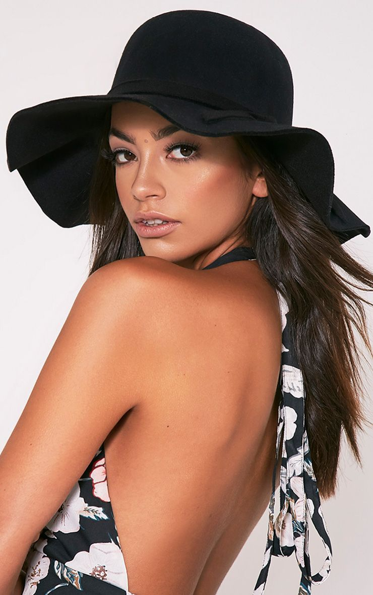 Sonja Black Floppy Hat