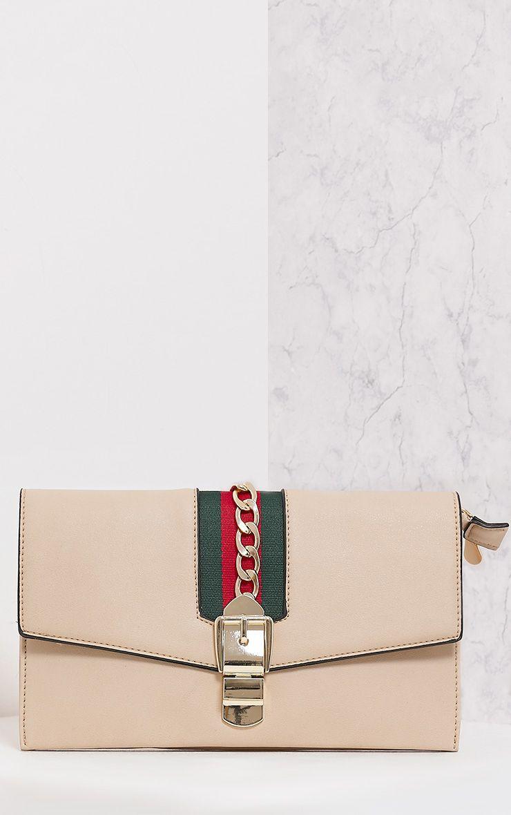 Olisha Nude Chain & Ribbon Bag