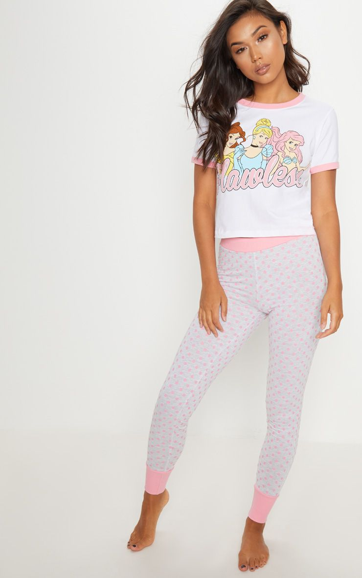 White Disney Princess Flawless Legging Pyjama Set