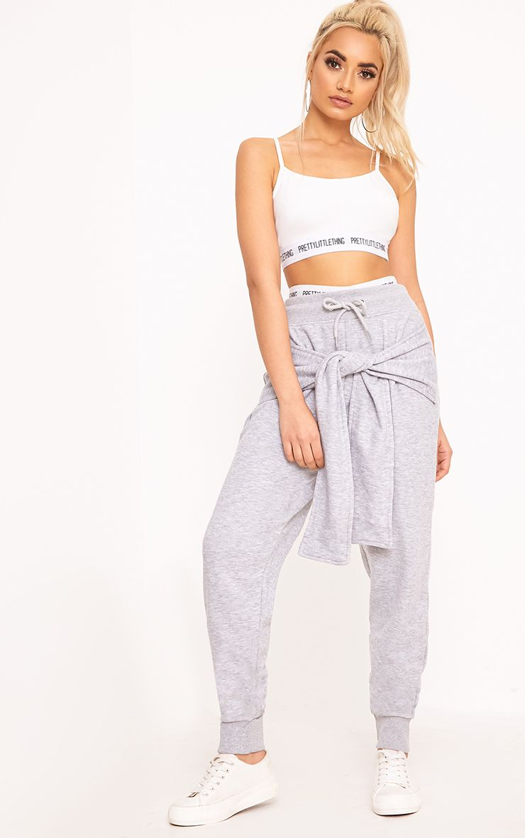 Lucee Grey Tie Front Joggers