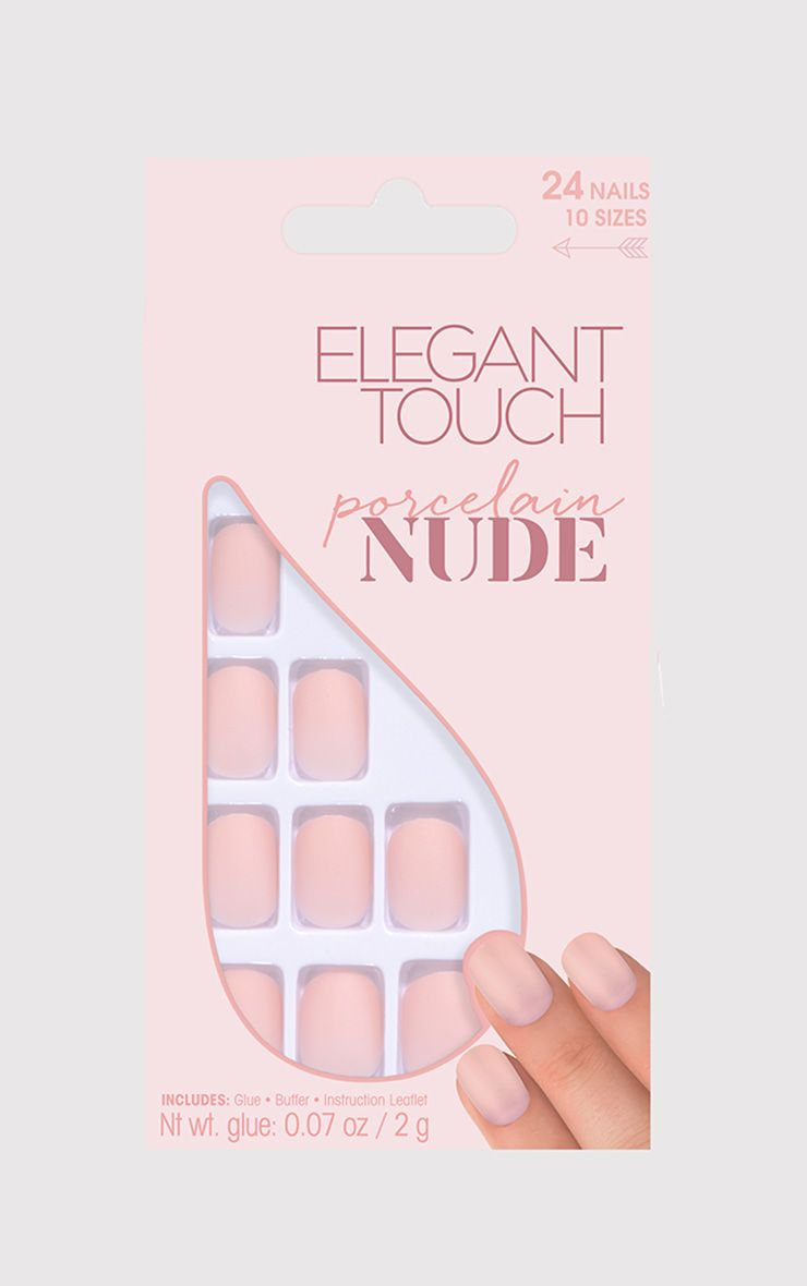 Elegant Touch Porcelain Nude False Nails